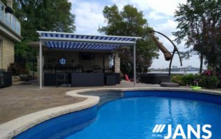 fixed pool awning