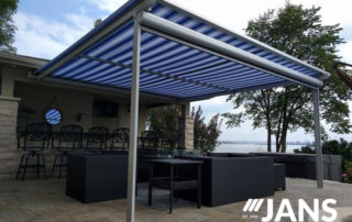 fixed patio awning