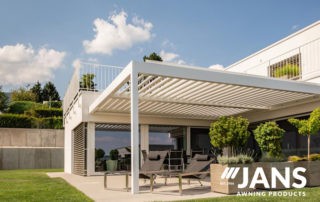 louvered roof awning