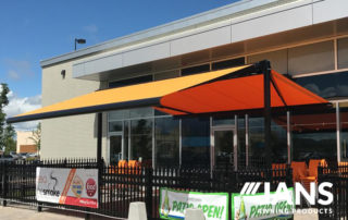 specialized awning commercial building