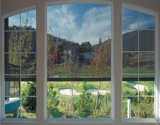 retractable windows screen