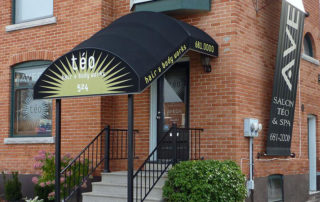 commercial staircase awning