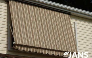 retracted window awning