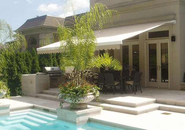 Poolside Motorized Retractable Awning