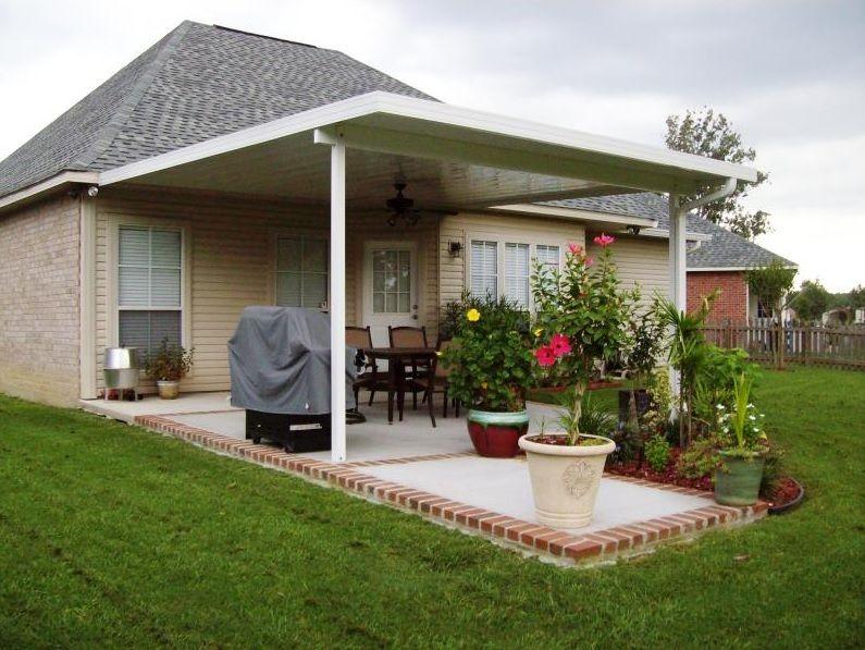 backyard patio with garden