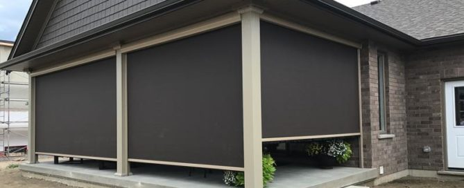 retractable screen on patio