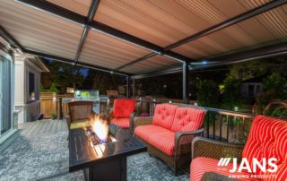 outdoor living space awning